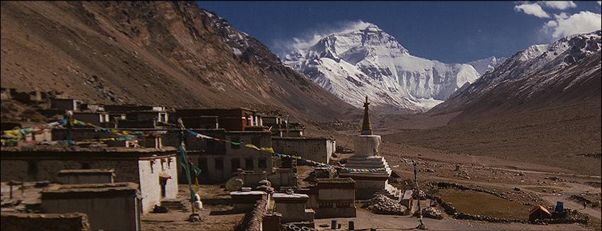 Parete Nord dell'Everest visto da Rongphu, Tibet