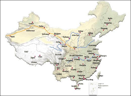 Cartina Geografica Della Cina.La Cina In Breve Navyo Nepal Discover Asia